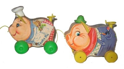 Fisher Price Cookie Pig #476 and Pudgy #478