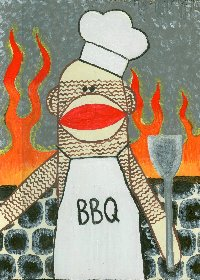 2004 ARTIST OWNED! - BBQ Monkey